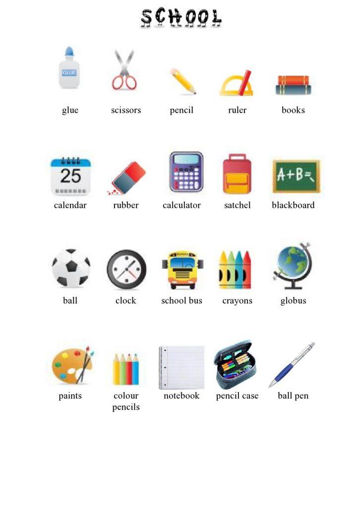 Predmeti u školi na engleskom