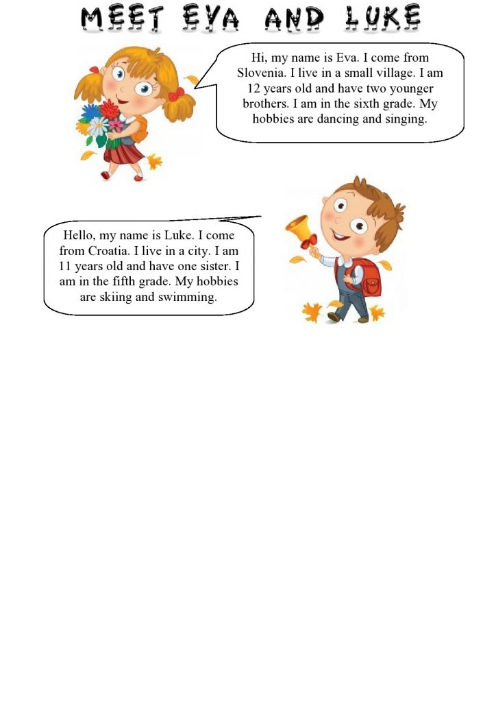 Predstavljanje na engleskom
